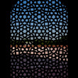 Marble carved screen window at Humayun's Tomb, Delhi — Stock Photo