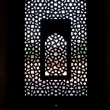 Marble carved screen window at Humayun's Tomb, Delhi - Stock Photo