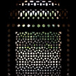 Marble carved screen window at Isa Khan's Tomb, Delhi, Delhi - Stock Photo