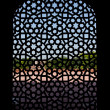Marble carved screen window at Humayun&#039;s Tomb, Delhi - Stock Photo