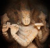 Krishna bas relief in Hindu temple. Sri Ranganathaswamy Temple. Tiruchirapp — Stock Photo