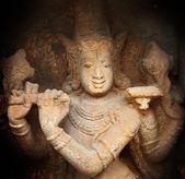 Krishna bas relief in Hindu temple. Sri Ranganathaswamy Temple. Tiruchirapp — Stock Photo