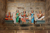 Hindu goddesses Parvati, Lashmi and Saraswati — Stock Photo