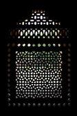 Marble carved screen window at Isa Khan's Tomb, Delhi, Delhi — Stock Photo