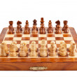 Chess on chessboard - Stock Photo