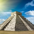 Mayan pyramid in Chichen-Itza, Mexico - Stock Photo