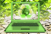 Ecology and technology — Stock Photo