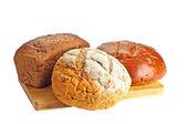 некоторые виды свежего хлеба — Стоковое фото