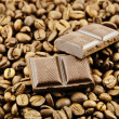 Chocolate bar and coffee — Stock Photo