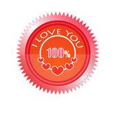 100% Love Stamp — Stock Vector