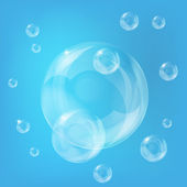 Soap bubbles — Stock Vector