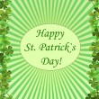 Design of greening card to st. patrick`s day - Stock Vector