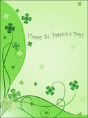Design of greening card to st. patrick`s day — Stock Vector