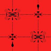 Patrón geométrico transparente sobre fondo rojo — Vector de stock