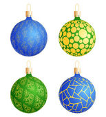 Christmas balls with pattern — Stock Vector