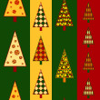 Stock Vector: Christmas trees seamless