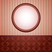 Wallpapers and round frame — Vector de stock