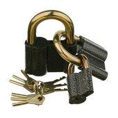 Three padlocks — Stock Photo