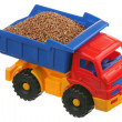Buckwheat in the truck — Stock Photo