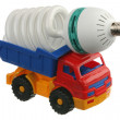 Stock Photo: Lightbulb in the truck