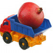 Big pomegranate in the truck — Stock Photo