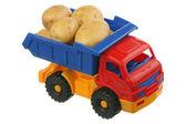 Potato in the truck — Stock Photo
