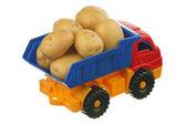 Potatis i lastbilen — Stockfoto