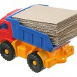 Cardboard in the truck — Stock Photo #4382520