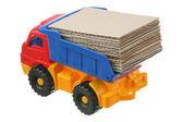 Cartón en el camión — Foto de Stock