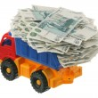Russian money in the truck — Stock Photo #4392431