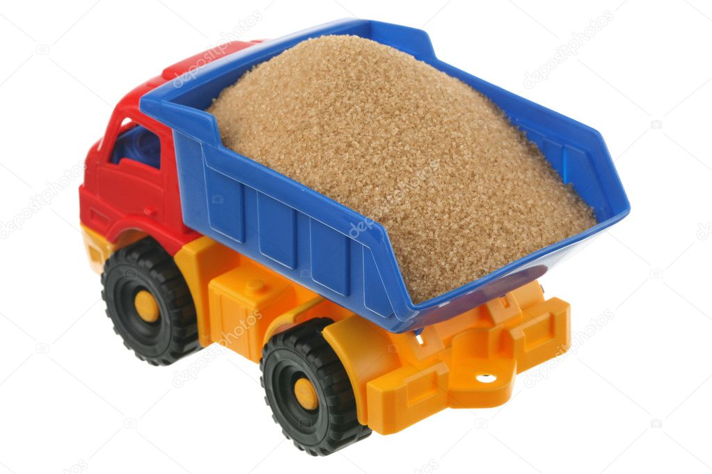 Sugar in the truck it is isolated on a white background  Stock Photo #4392385