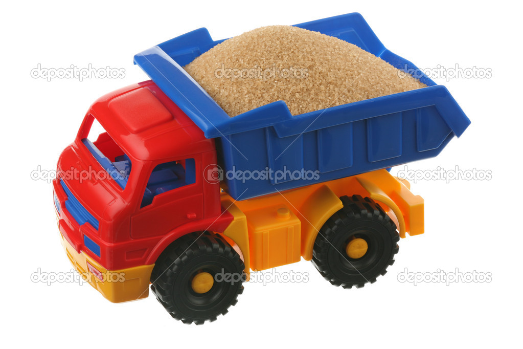 Sugar in the truck it is isolated on a white background — Stock Photo #4392397