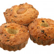 Three fruitcakes — Stock Photo