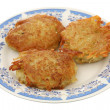 Potato fritters — Stock Photo