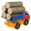 Logs in the truck — Stock Photo