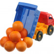 Stock Photo: Tangerines in truck