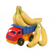 Fresh bananas in the truck — Stock Photo