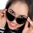 Brunette with sunglasses — Stock Photo
