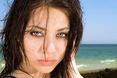 Portret młodej kobiety — Zdjęcie stockowe
