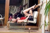 Sexy blonde — Stock Photo