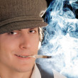 Royalty-Free Stock Photo: Smoking man