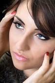 Attractive brunette — Stock Photo