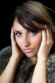 Bewitching brunette — Stock Photo