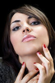 Temptress brunette — Stock Photo
