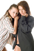 Two attractive women — Stock Photo
