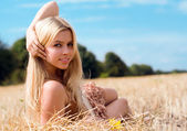 Beautiful blond — Stock Photo