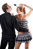 Young playful couple — Stock Photo
