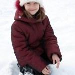 Beautiful girl in snow. — Stock Photo #4892817