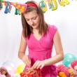Birthday girl and gifts — Stock Photo #5003778