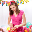Birthday girl and gifts — Stockfoto #5003778